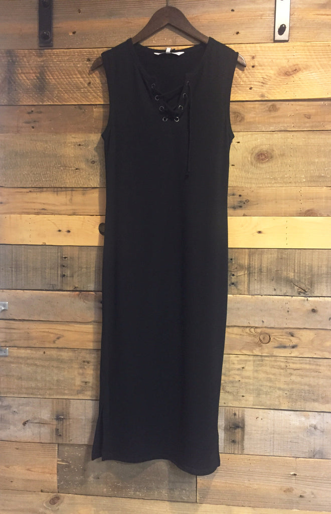 Cupcakes and Cashmere Levinson Black Lace Up Maxi-Cupcakes and Cashmere-The Bugs Ear