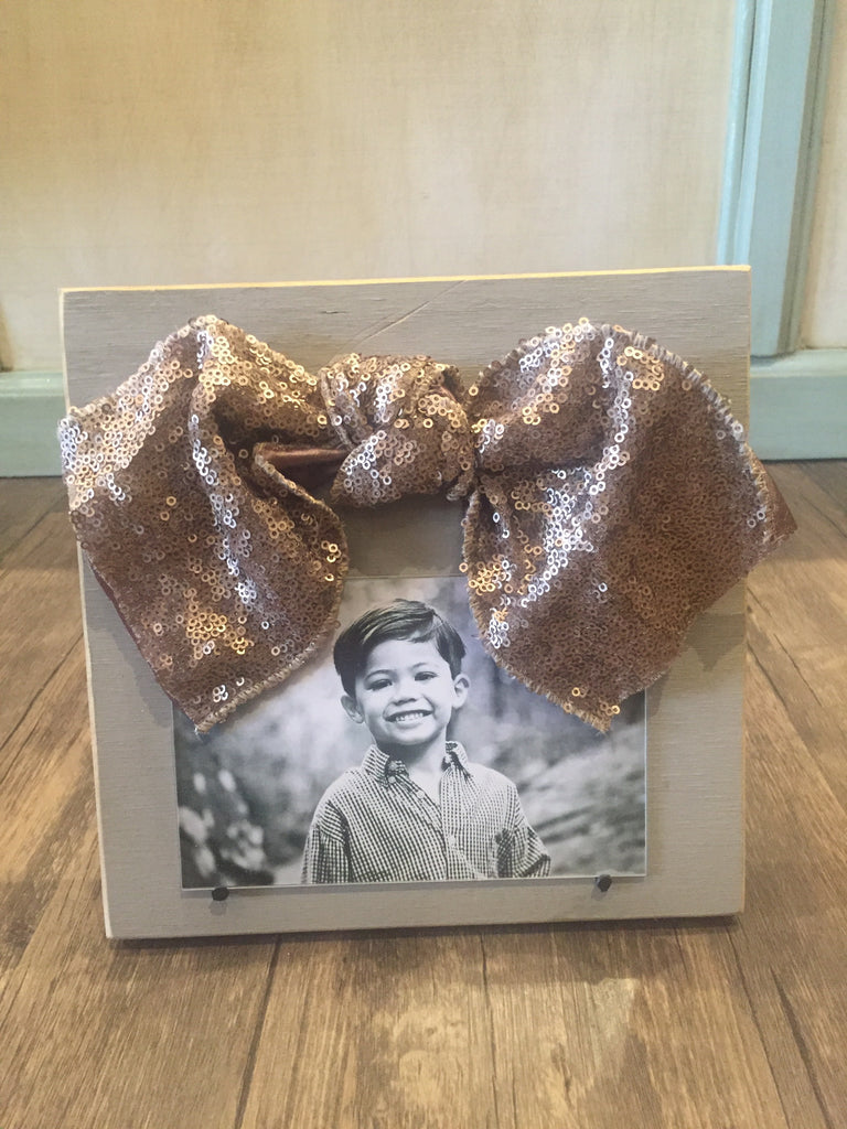 Snooty Toot Frame Simply Metallic Bronze Sequin Bow-Snooty Toot-The Bugs Ear