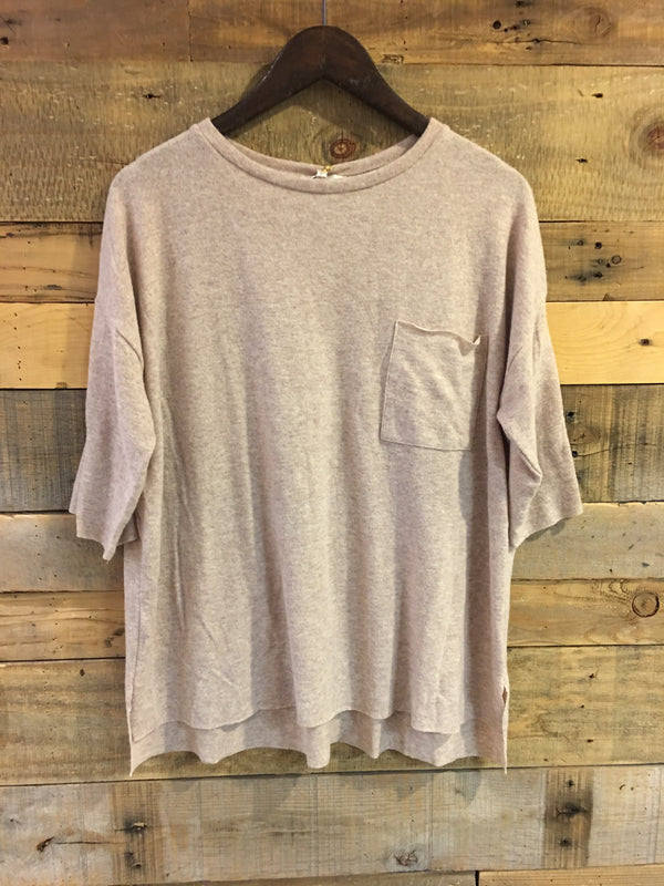 Paula Soft Taupe Crewneck Sweater-Laju-The Bugs Ear