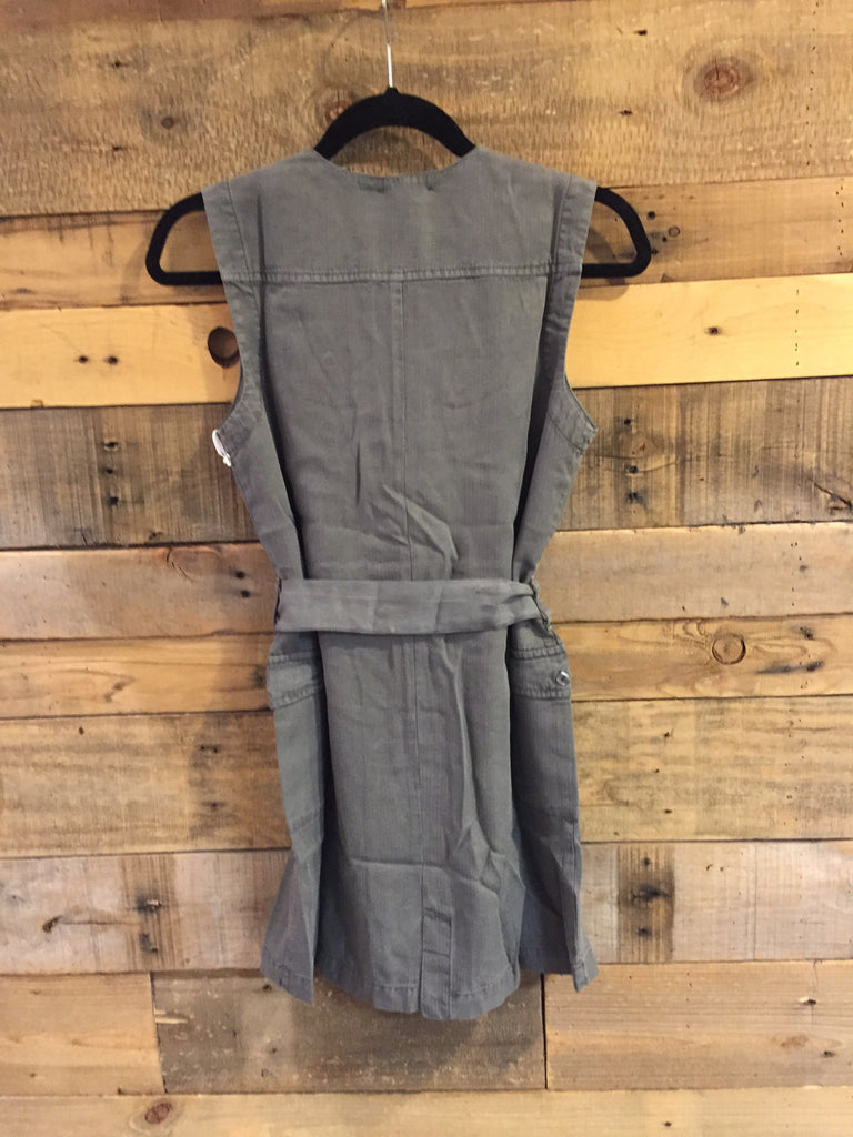 Clandon Sleeveless Shirt Dress in Spruce-On The Road-The Bugs Ear