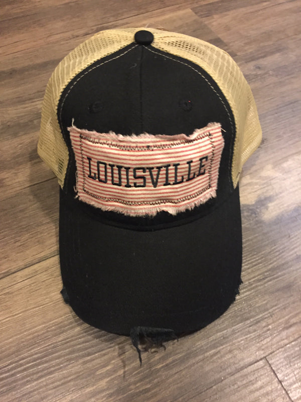 Boho Trucker Hat Louisville Stripe-Genevieve Gail-The Bugs Ear
