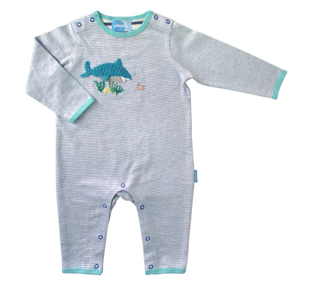 Albetta Sharky Crochet Romper-Empress Arts-The Bugs Ear