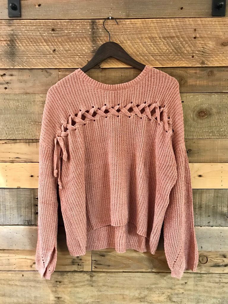 Lena Sweater with Lace Up-Elan-The Bugs Ear