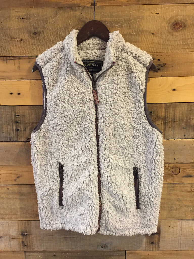 True Grit Frosty Tipped Double Up Vest in Heather-True Grit-The Bugs Ear