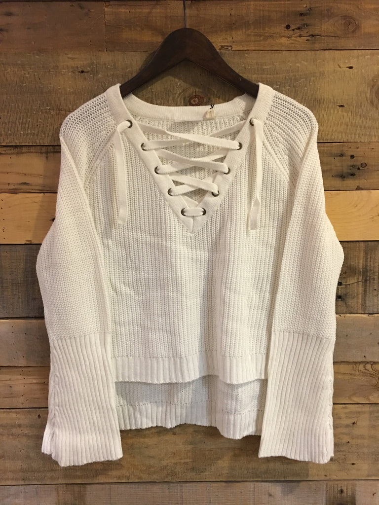 Lillian Winter White Knitted Sweater-RD Style-The Bugs Ear