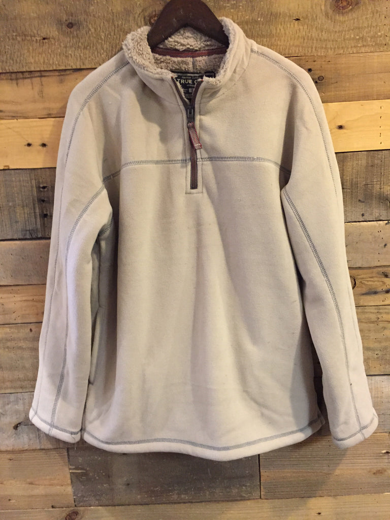 True Grit Bonded Polar Fleece Sherpa Pullover in Gray-True Grit-The Bugs Ear