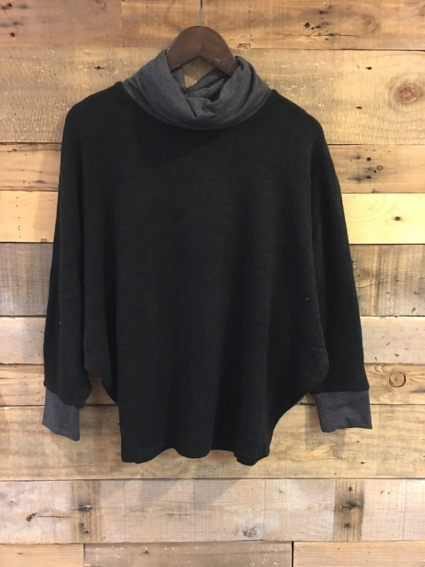 Evie Turtle Neck Relaxed Sweater-THML-The Bugs Ear