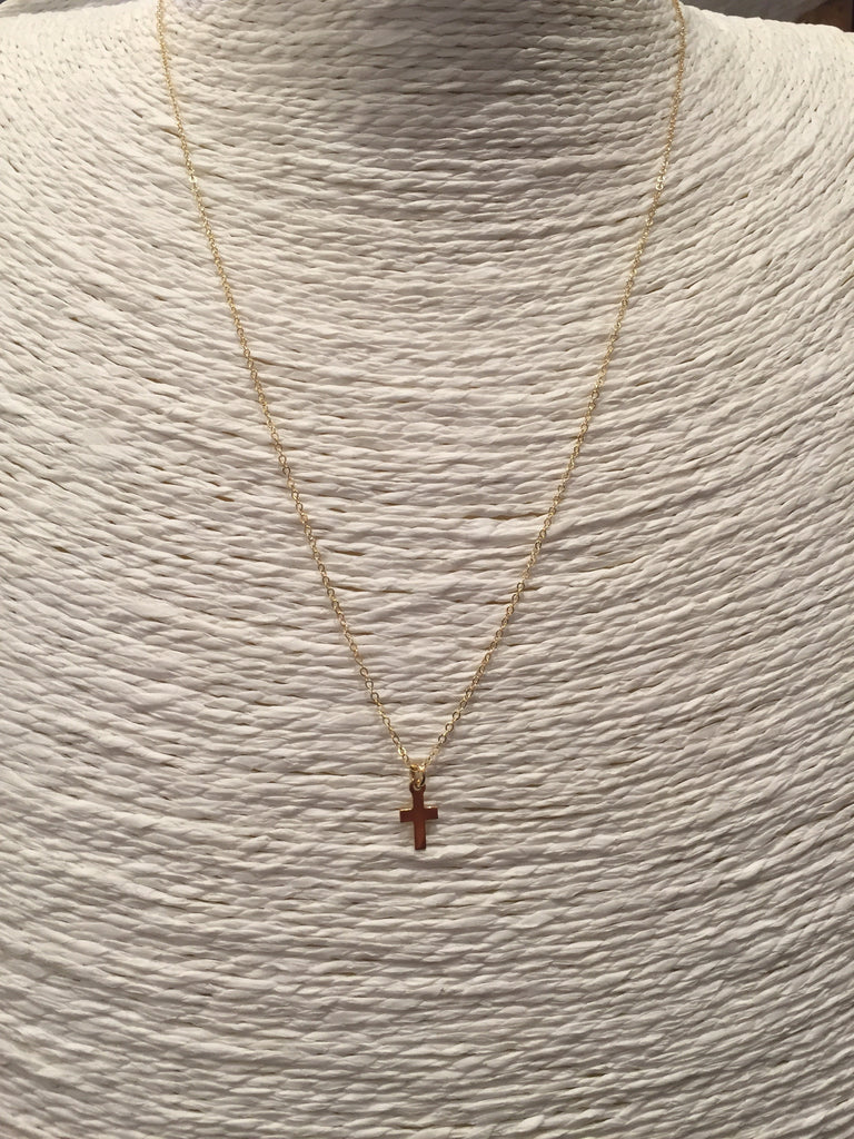 Tiny Cross Gold Necklace-Fashionable-The Bugs Ear
