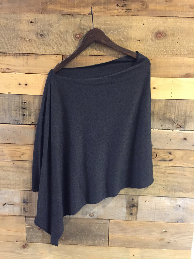 Kerisma Knit Poncho in Charcoal-Kerisma-The Bugs Ear