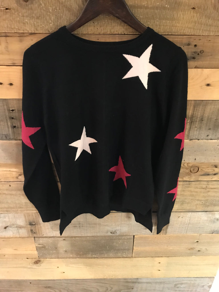 Dana Colored Star Sweater-THML-The Bugs Ear