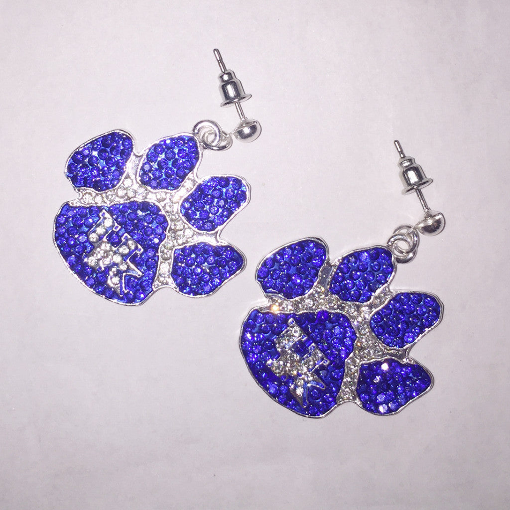 Kentucky Crystal Paw Earrings-Seasons Jewelry-The Bugs Ear