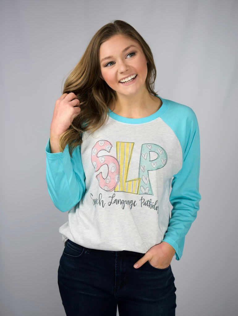 SLP Doodle Raglan Speach Language Pathology-Doodles By Rebekah-The Bugs Ear