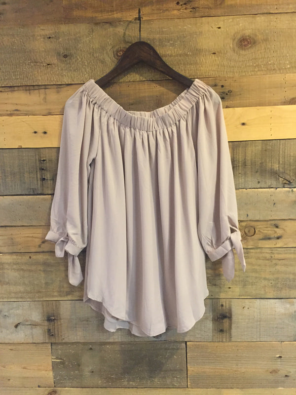 Irene Contemporary Off Shoulder Light Mauve Top-Wishlist-The Bugs Ear