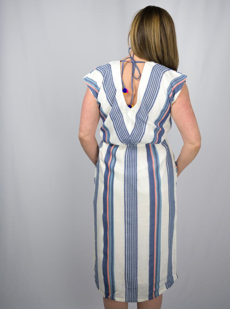 Daisy Mulit Colored Stripe Dress-THML-The Bugs Ear