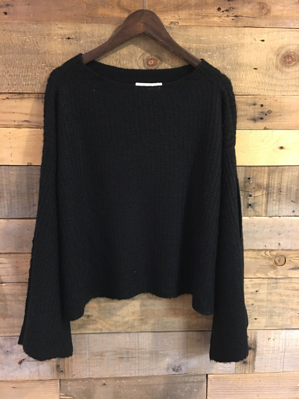 Davie Black Knit Sweater-RD Style-The Bugs Ear
