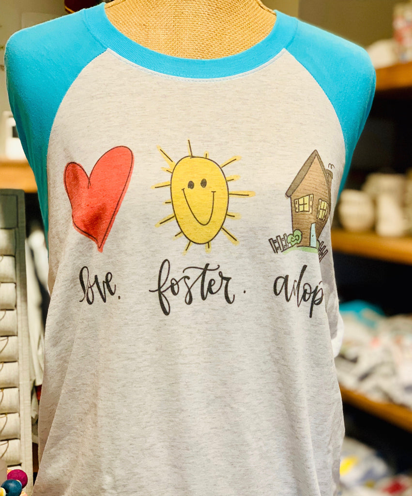 Love Foster Adopt Doodles Raglan-Doodles By Rebekah-The Bugs Ear
