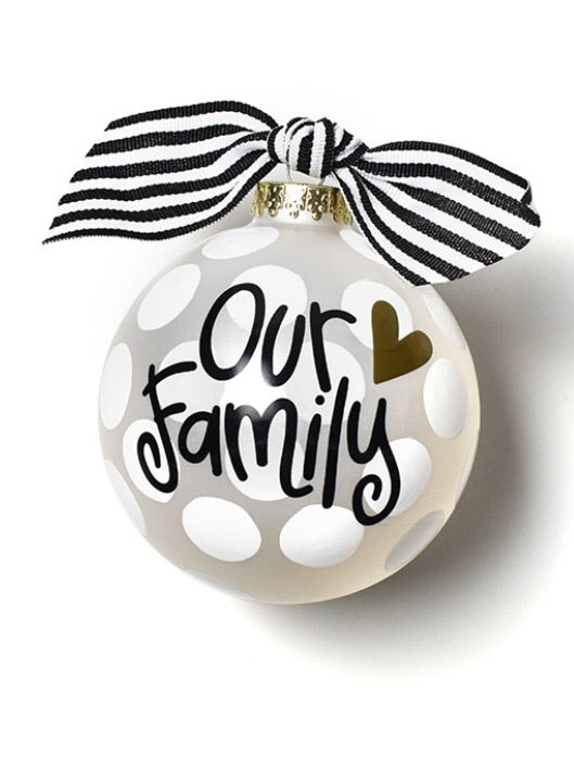 Coton Colors Our Family Glass Ornament-Coton Colors-The Bugs Ear