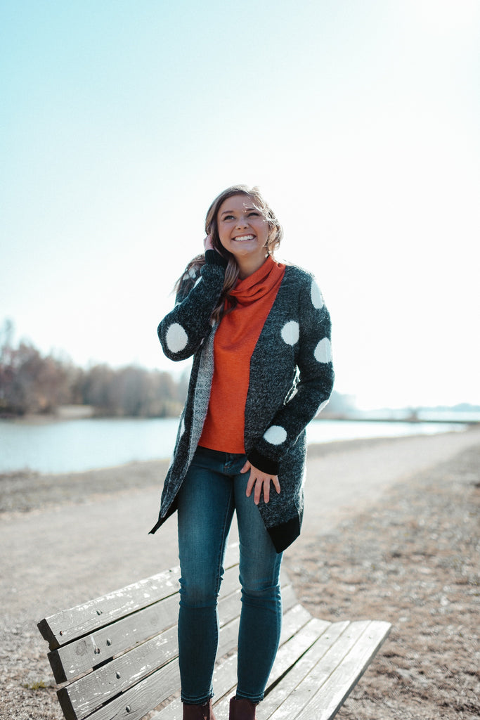 Lyla Polka Dot Cardigan-THML-The Bugs Ear