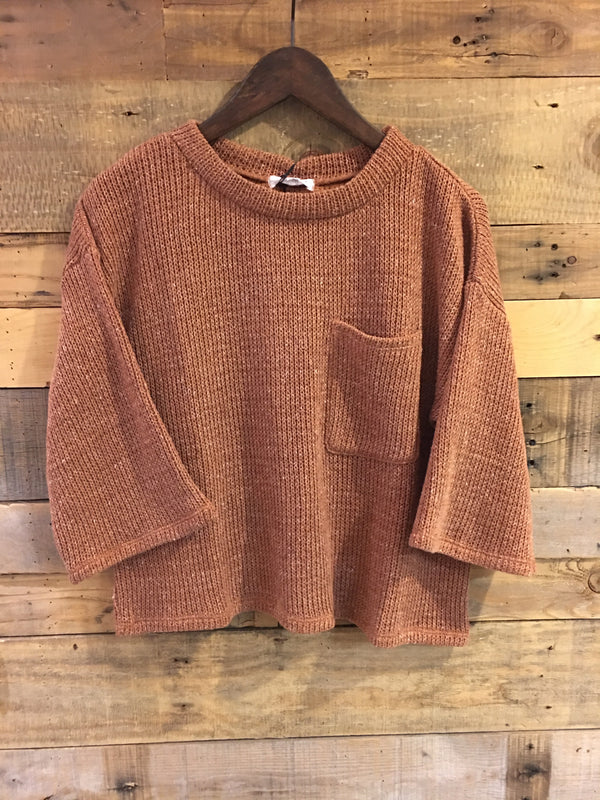 Oriana Lounge Knit Sweater With Pocket-THML-The Bugs Ear