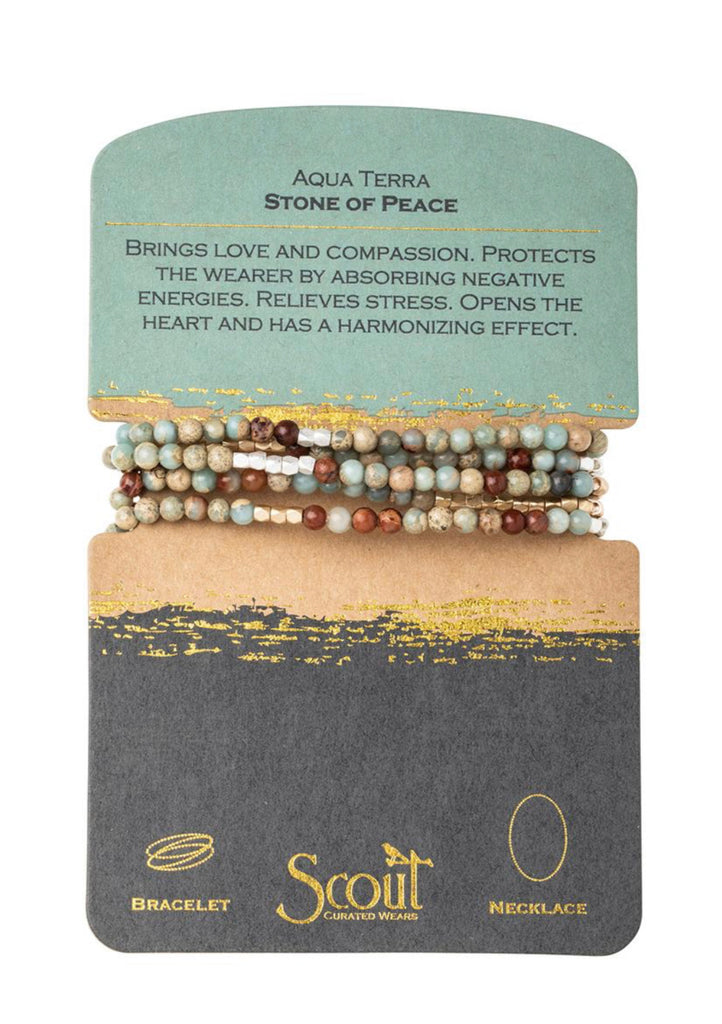 Aqua Terra Stone of Peace Necklace Bracelet-Scout Curated Wears-The Bugs Ear