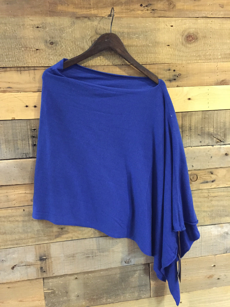 Kerisma Knit Poncho in Blue-Kerisma-The Bugs Ear
