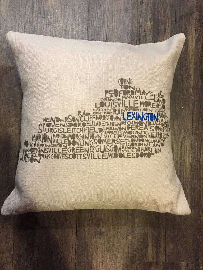 Southern Roots Pillow Lexington Cities and Towns-Southern Roots-The Bugs Ear