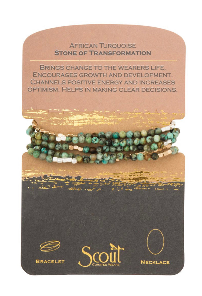 African Turquoise Stone of Transformation Necklace Bracelet-Scout Curated Wears-The Bugs Ear