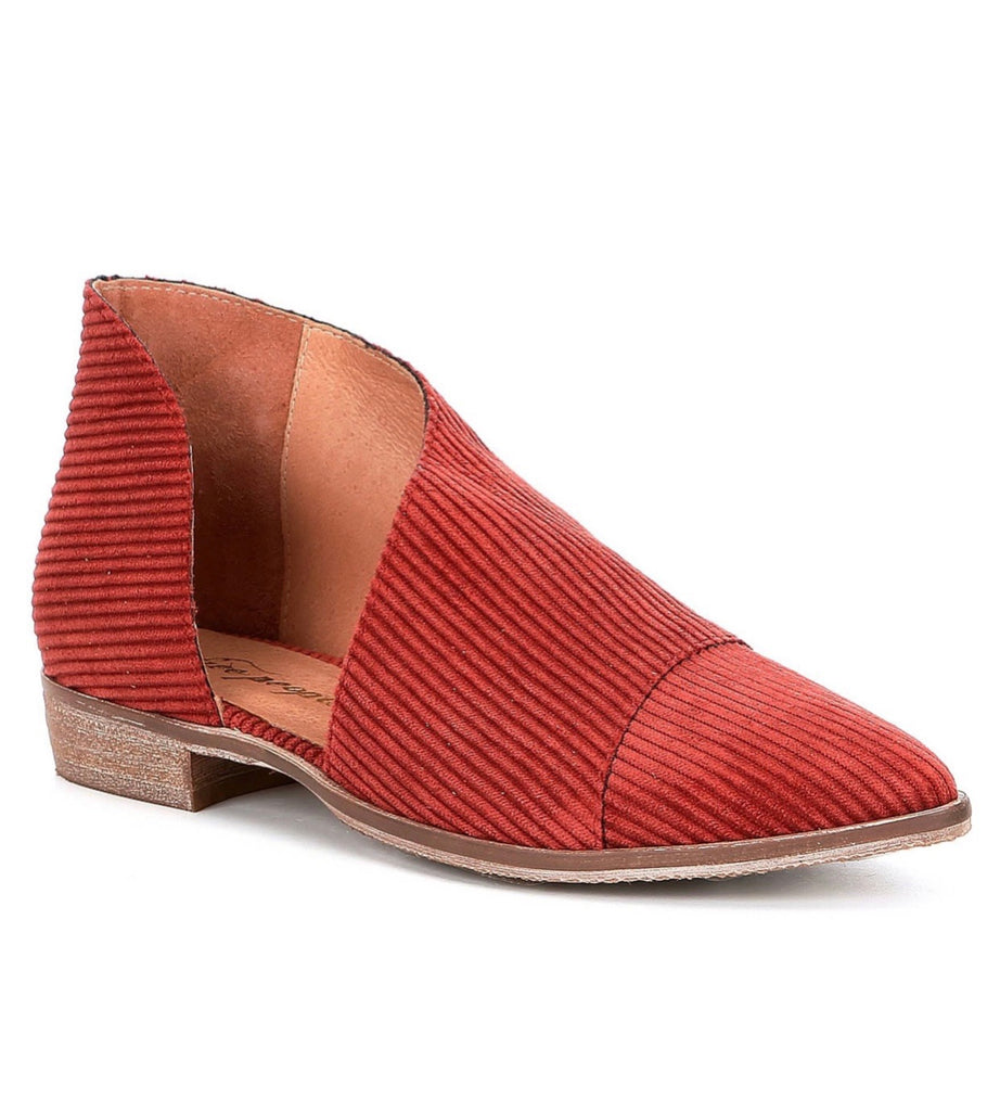 Free People Fabric Royale Flat in Orange-Free People-The Bugs Ear