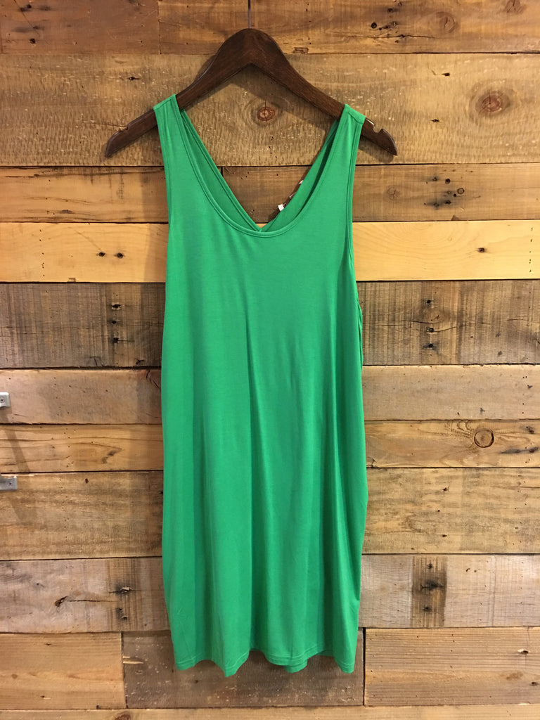 Tenney Green Inverted Pleat Back Tank Dress-Joy Joy-The Bugs Ear