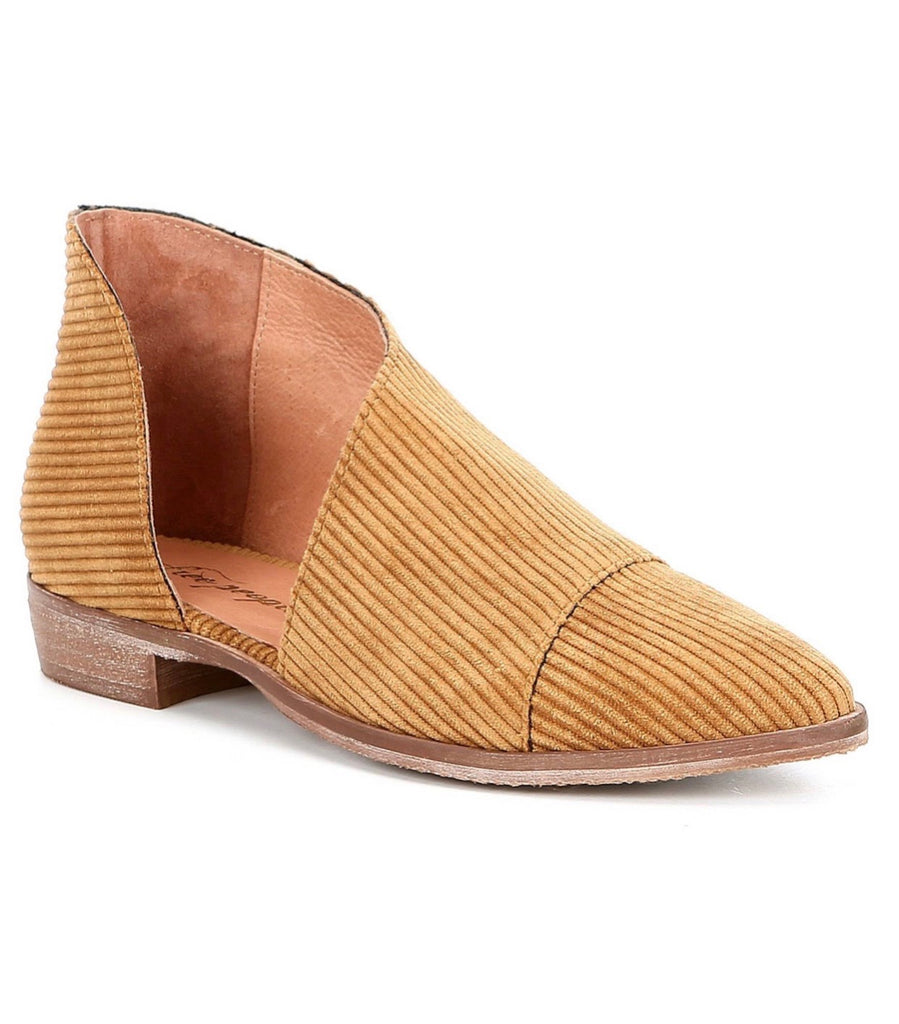Free People Fabric Royale Flat in Gold-Free People-The Bugs Ear