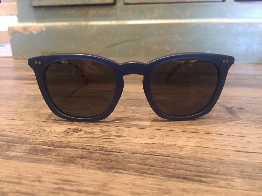 Toms Sunglasses Maxwell Matte Slate Blue and Yellow Gold-Toms-The Bugs Ear