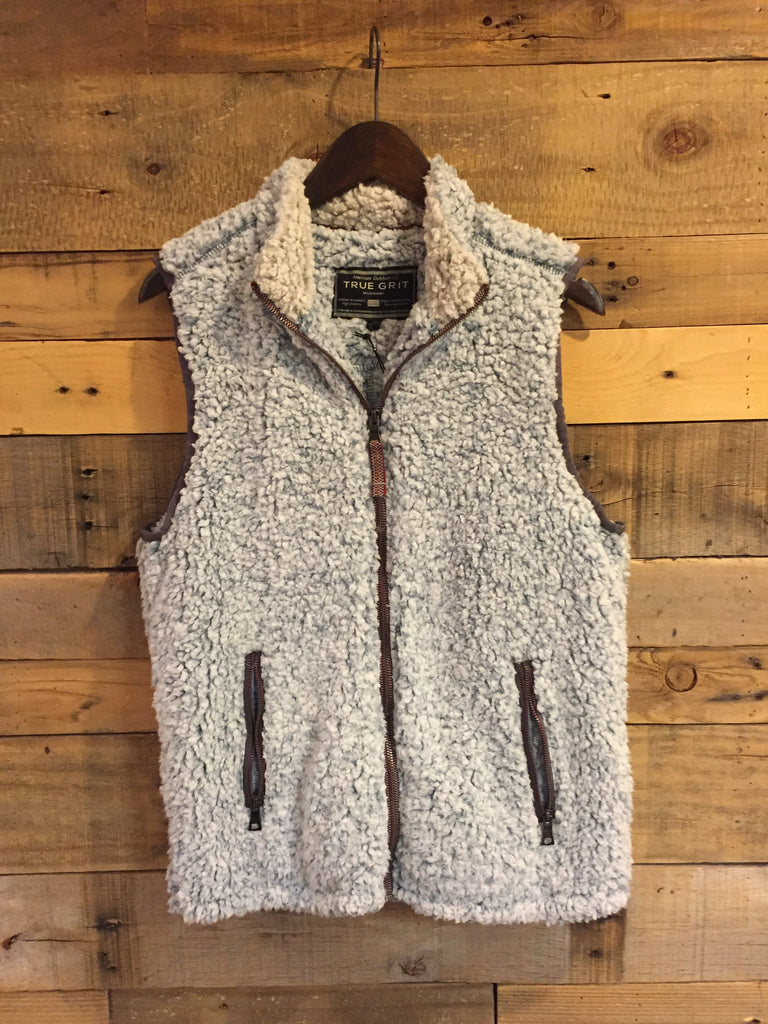 True Grit Frosty Tipped Double Up Vest in Denim-True Grit-The Bugs Ear