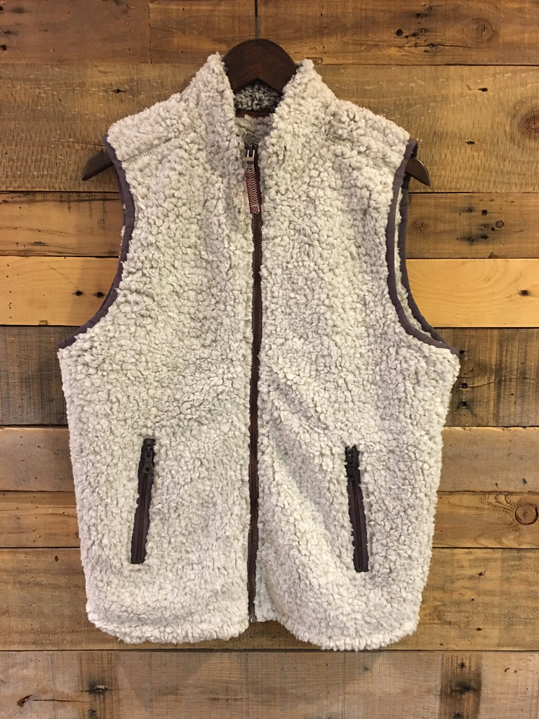 True Grit Frosty Tipped Double Up Vest in Putty-True Grit-The Bugs Ear
