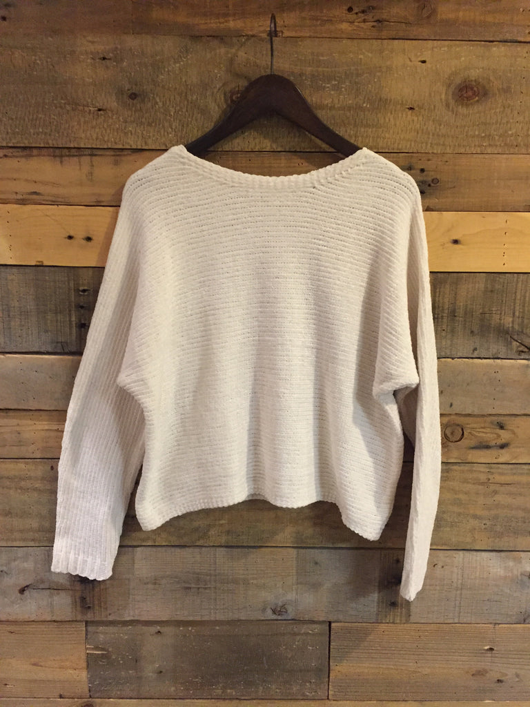 Sylvia Ivory Chenille Sweater-RD Style-The Bugs Ear