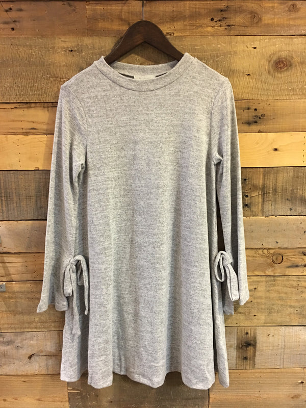 Diana Marled Grey Sweater Dress-Laju-The Bugs Ear