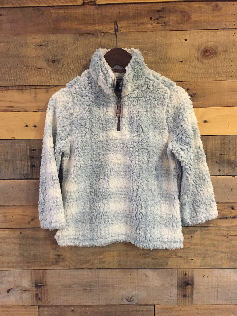 Big Plaid BlueTrue Grit Youth Frosty Tipped Pill Quarter Zip Fleece Pullover-True Grit-The Bugs Ear