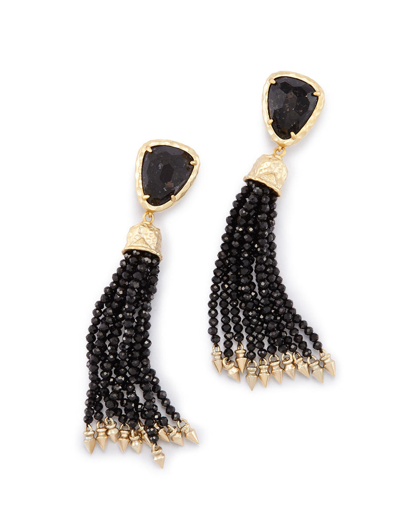 Kendra Scott Blossom Earrings in Black Granite-Kendra Scott-The Bugs Ear