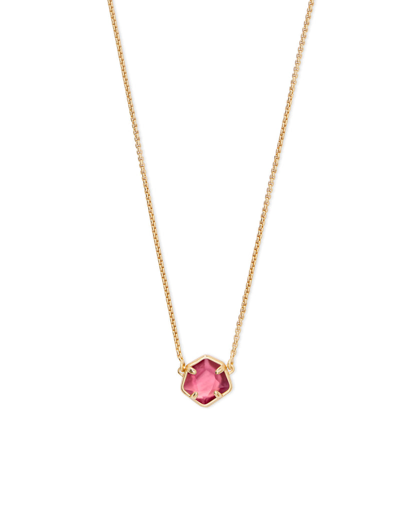 Kendra Scott Jaxon Gold Pendant Necklace In Berry Illusion-Kendra Scott-The Bugs Ear