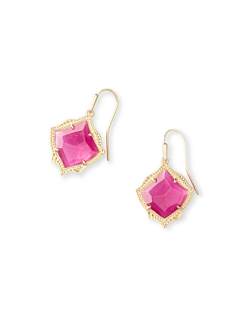 Kendra Scott Kyrie Gold Drop Earrings In Azalea Illusion-Kendra Scott-The Bugs Ear