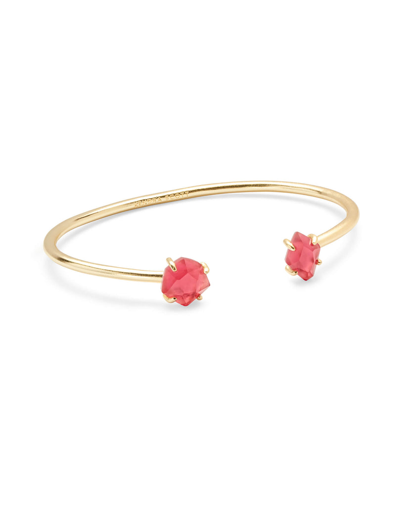 Kendra Scott Merida Gold Pinch Cuff Bracelet In Berry Illusion-Kendra Scott-The Bugs Ear