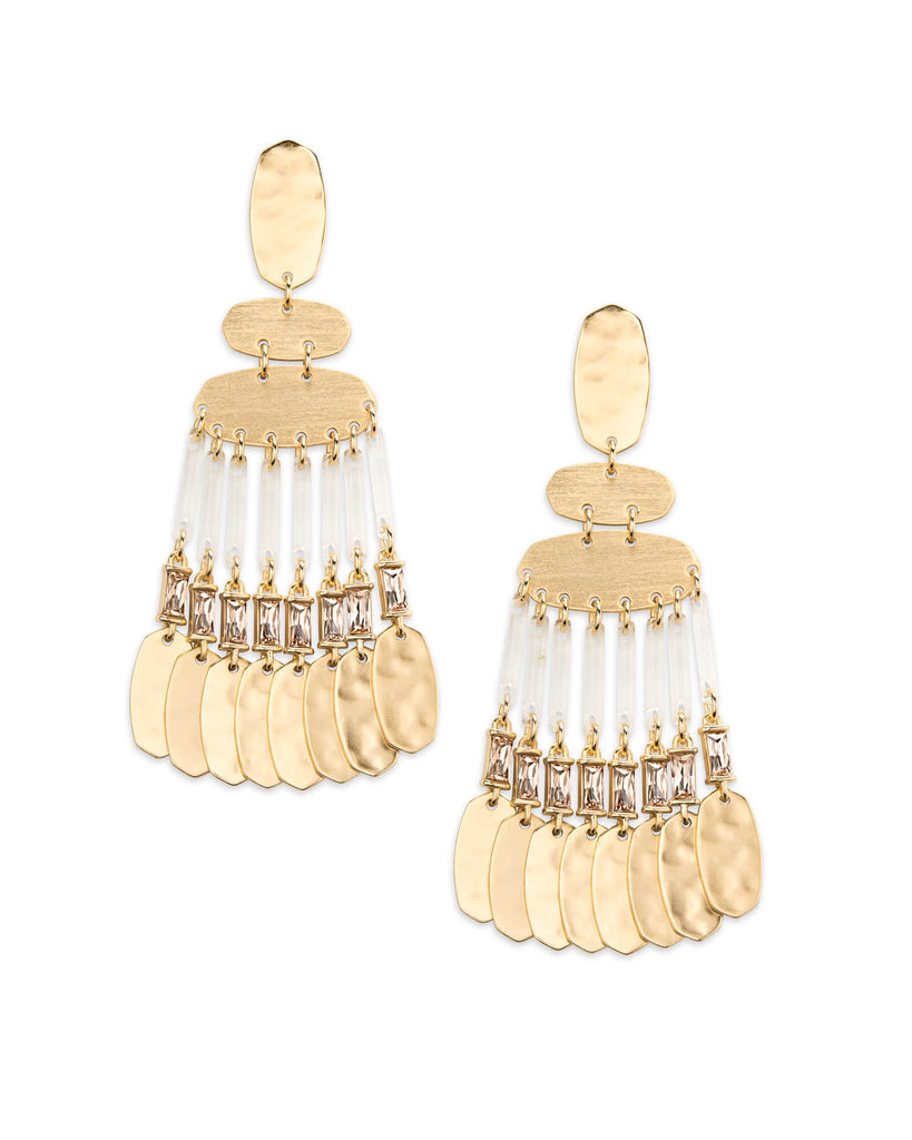 Kendra Scott Oster Gold Statement Earrings In Smoky Crystal-Kendra Scott-The Bugs Ear