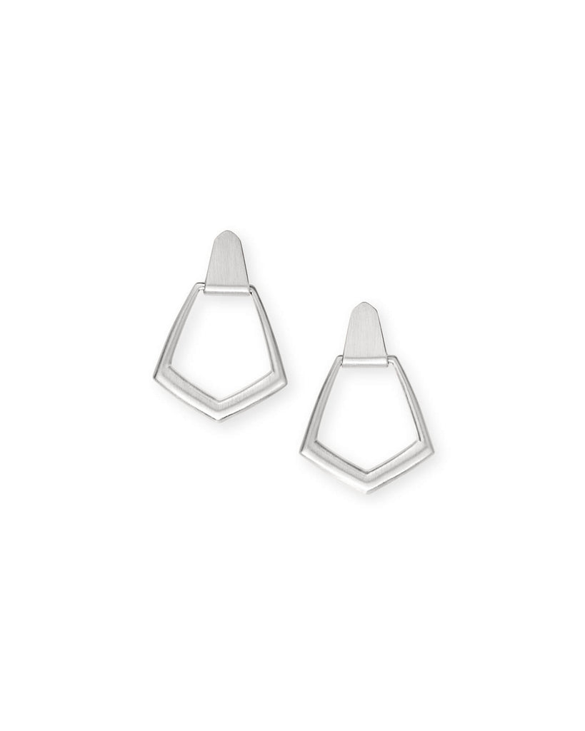 Kendra Scott Paxton Hoop Earrings In Bright Silver-Kendra Scott-The Bugs Ear