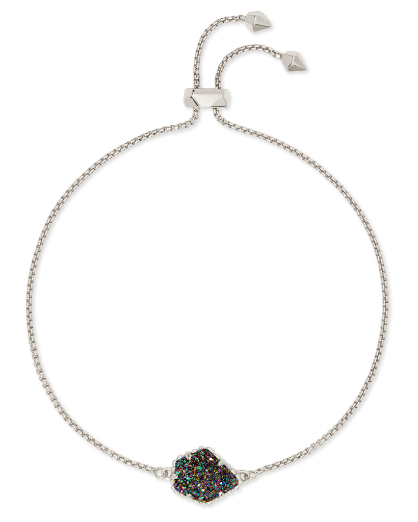 Kendra Scott Theo Silver Adjustable Chain Bracelet In Multicolor Drusy-Kendra Scott-The Bugs Ear