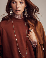 Kendra Scott Yazmin Rose Gold Long Necklace In Sable Mica-Kendra Scott-The Bugs Ear