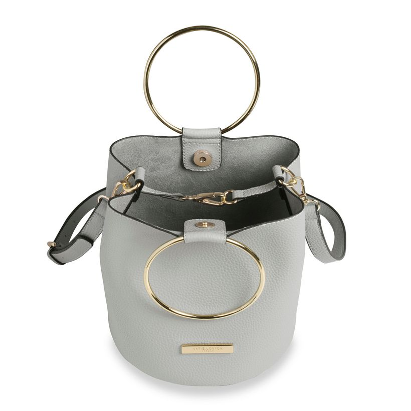 Katie Loxton Suki Mini Bucket Bag in Pale Gray-Katie Loxton-The Bugs Ear