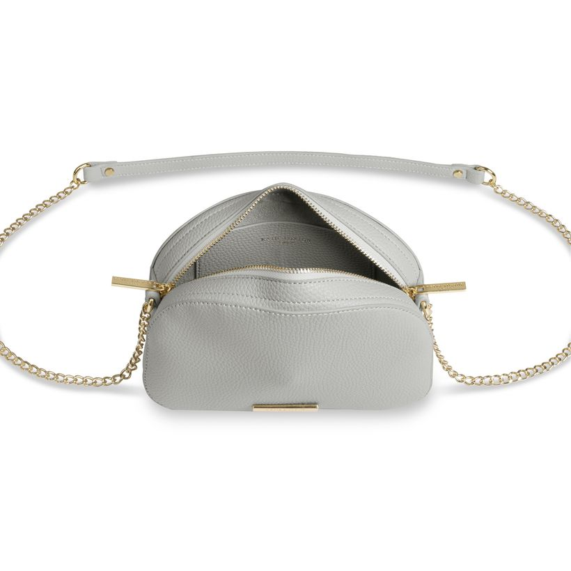 Katie Loxton Half Moon Bag in Soft Gray-Katie Loxton-The Bugs Ear