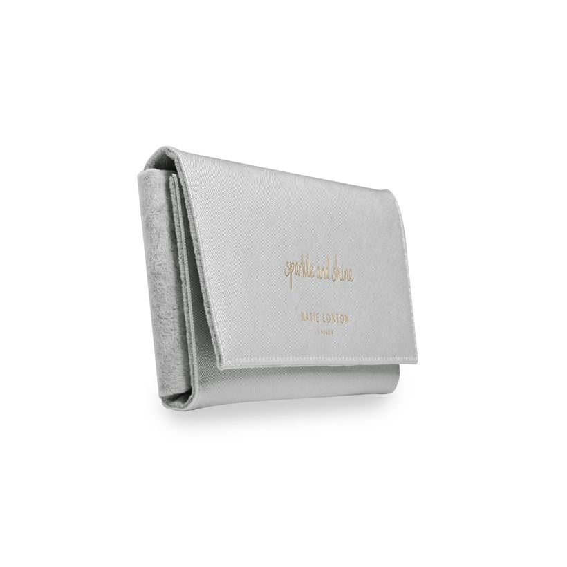 Katie Loxton Jewelry Roll Sparkle and Shine in Metallic Silver-Katie Loxton-The Bugs Ear