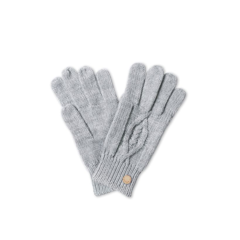 Katie Loxton Cable Knit Bobble Gloves in Charcoal Gray-Katie Loxton-The Bugs Ear