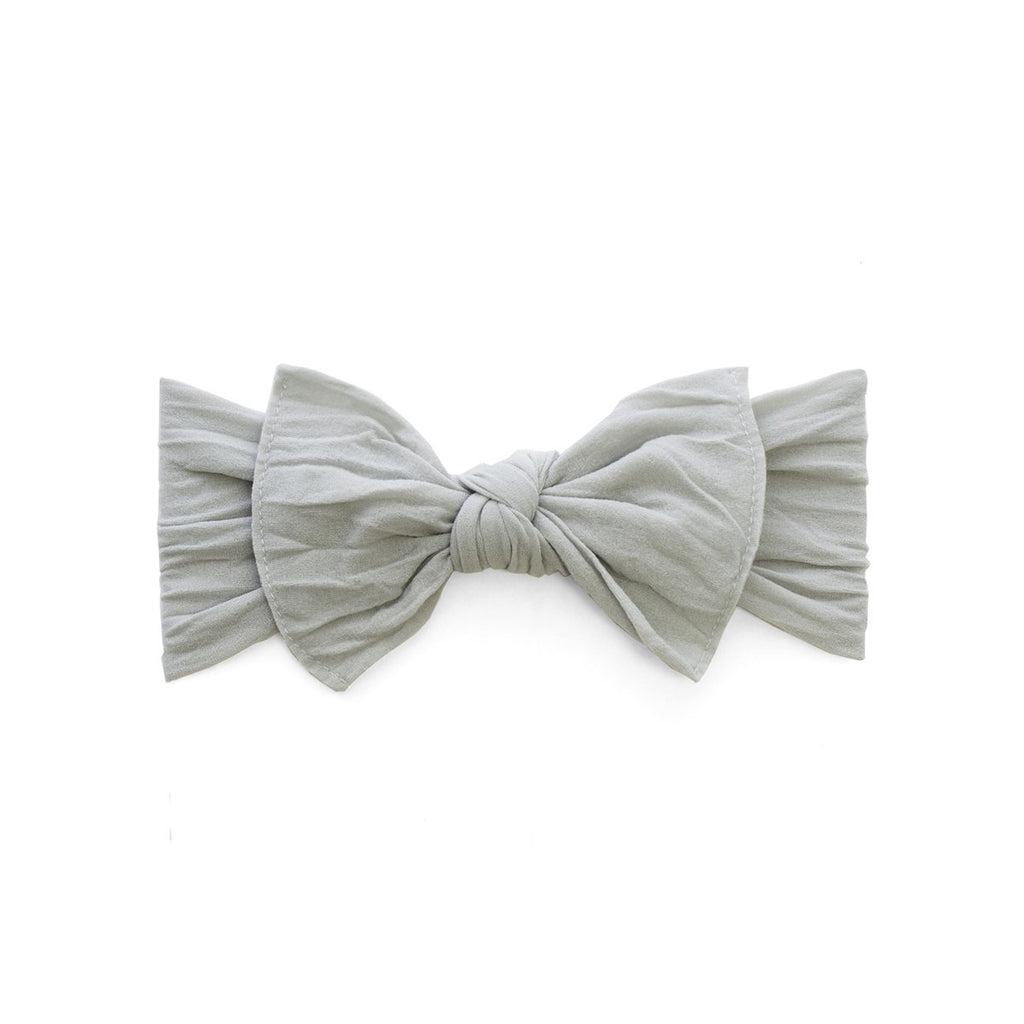 Baby Bling Itty Bitty Knot Bow Grey-Baby Bling-The Bugs Ear