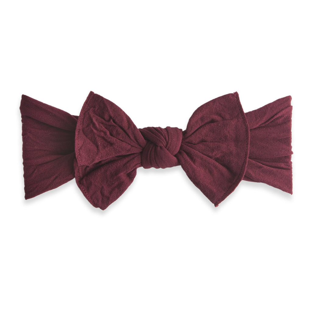 Baby Bling Bow Knot Burgundy-Baby Bling-The Bugs Ear